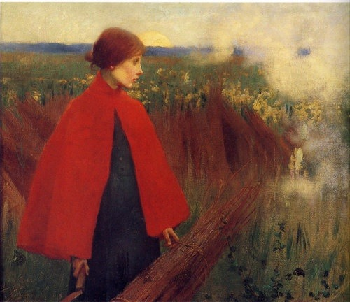 artmastered:  The Passing Train by Marianne Stokes, 1890