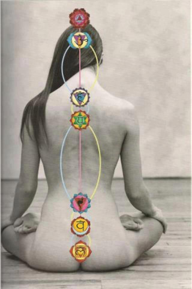 "Structure of the Chakras: ""Chakra"" is a Sanskrit word meaning ""wheels of light"". This is descriptive of the appearance of the chakras which are like vortexes of energy which spin. Each chakra is structured uniquely to receive and transmit the particular qualities of energy which are necessary for the area of functioning governed by the chakra.(info source)"