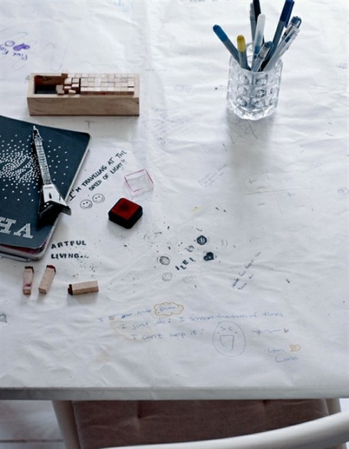 doodling on paper (via ikea)