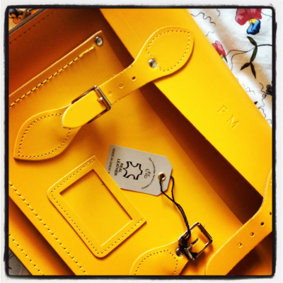 Yellow satchel.