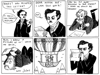 fer1972:  Poe and Verne by Kate Beaton's Hark, a Vagrant (beatonna) Many Thanks to elizabethplaid!