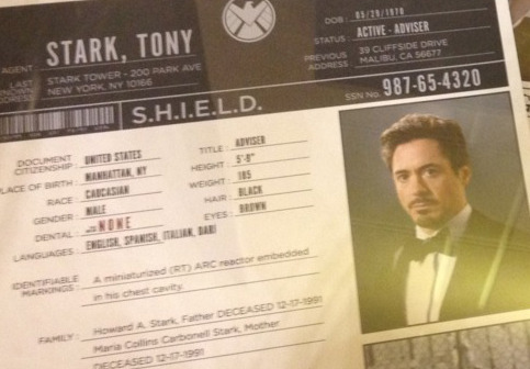 ironfries:  so like, tony's born in may 20, 1970! or may 29. i can't read numbers. but maria collins carbonell stark. is there like a file for the other avengers, because i want to know