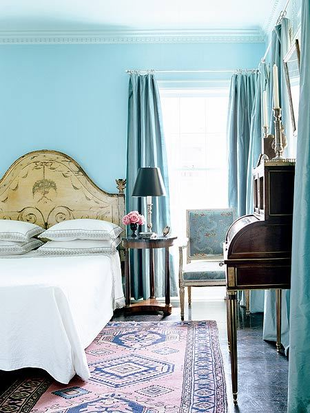 precious french room in tiffany blue