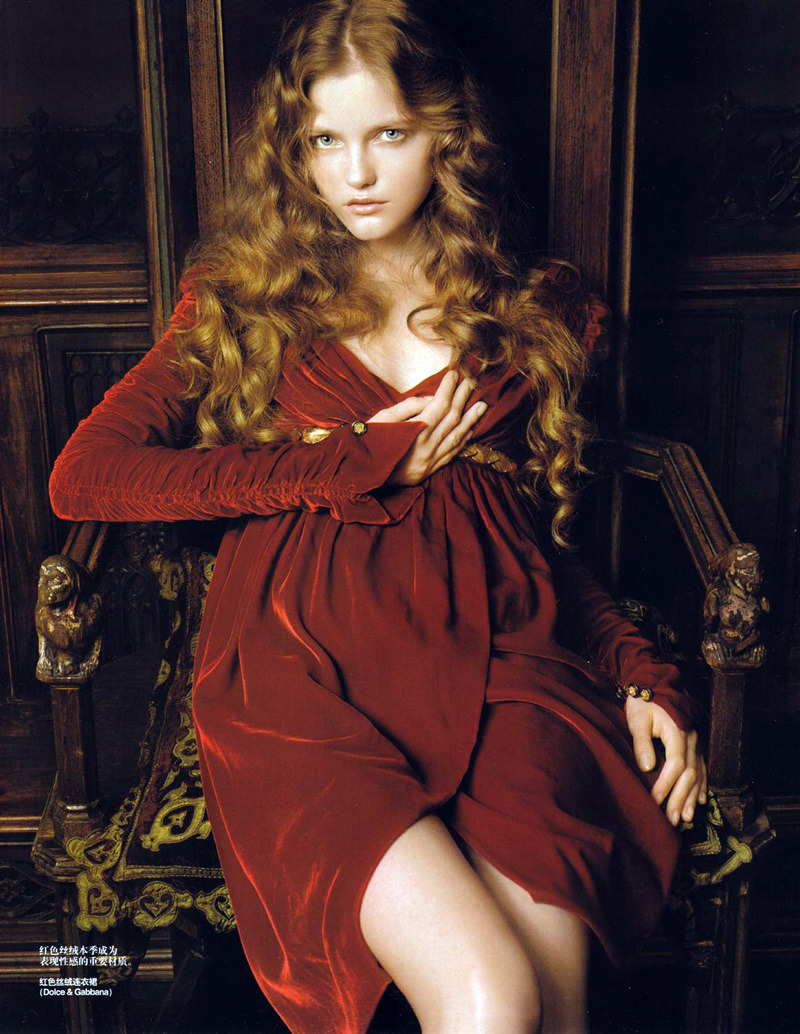 "Myrcella Baratheon as in ""Queen of the Renaissance"" featuring Vlada Roslyakova by Pierluigi Maco for Vogue China in January 2007."