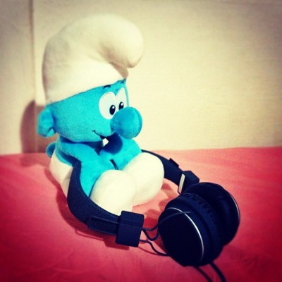 Smurf like the new headphone! (Taken with instagram)