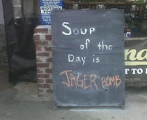 Sorry, what is your soup of the day?