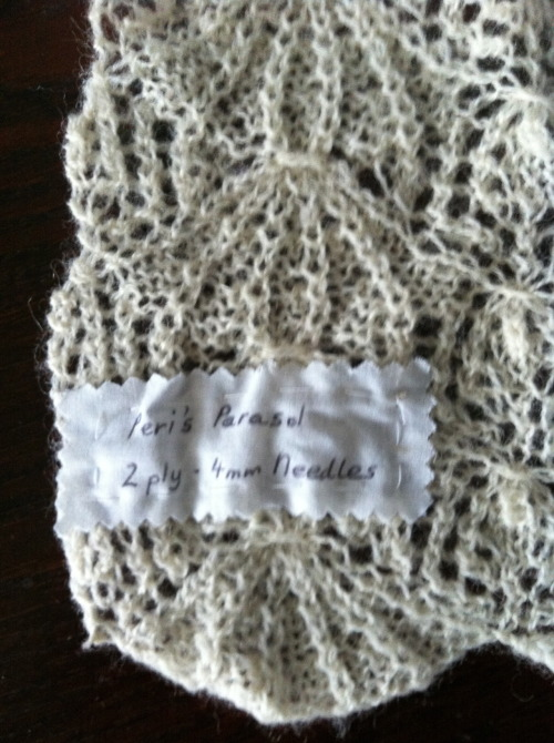 Peri's Parasol Lace stitch… Handmade in Brighton with Shetland wool - we love British yarns!
