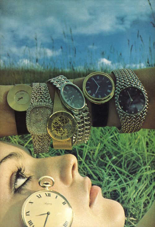 Need a watch? By Barry Lategan, 1975.