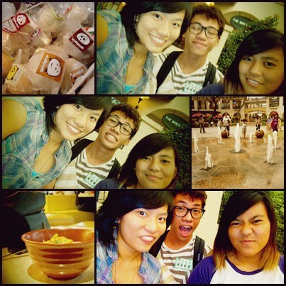 alealeabanana:  May 5, 2012ATC with Ate Lou and Ron <3awwweeee me loves theeeeem :3   MOE MOE KYUN <3 FUN FUN FUN YEAH!