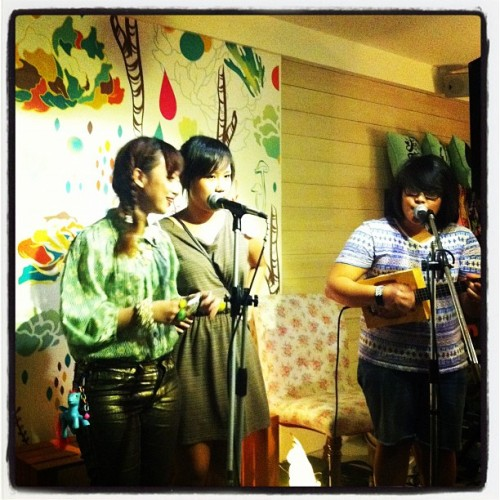 Reese, Karen and Rizza impromptu set at Heima (Taken with instagram)