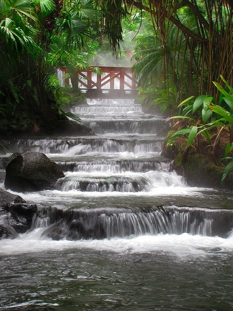 bluepueblo:  Hot Springs Waterfall, Arenal Volcano, Costa Rica photo via morgen