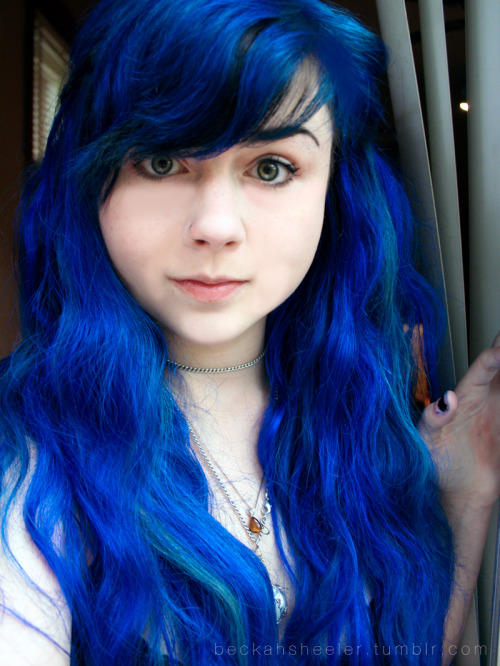 Me and my blue hair :) Submitted by beckahsheeler