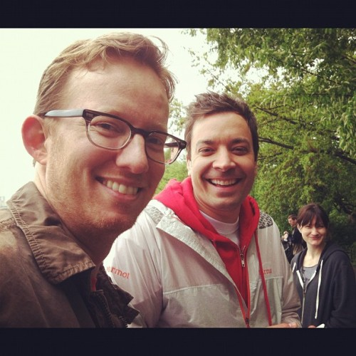 @JimmyFallon & @80Miles  attends the 15th annual EIF REVLON Run/Walk for Women on 5/5/2012 in NYC
