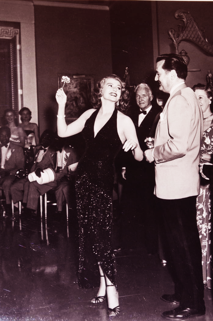 "Rita Hayworth performing ""I've been kissed before"" in Affair In Trinidad, 1952."