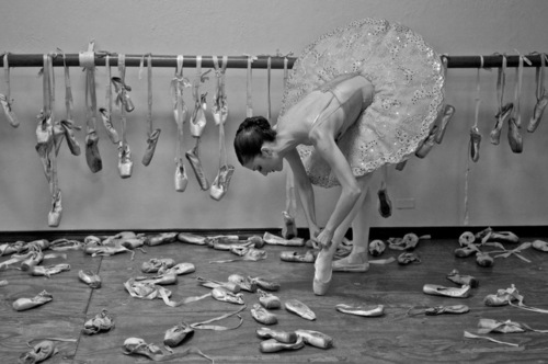 going through so many ballet shoes