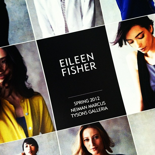 Eileen Fisher show #fashion #instagram  (Taken with instagram)