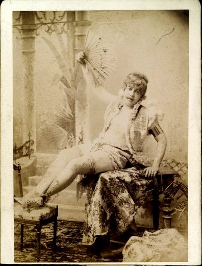 tuesday-johnson:  ca. 1896, [portrait of a gentleman posed in lady's costume], Richard von Krafft-Ebing via the Wellcome Library, Archives & Manuscripts Collection
