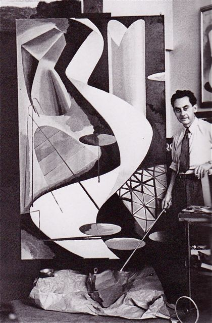 Man Ray in his studio. Paris c. 1939