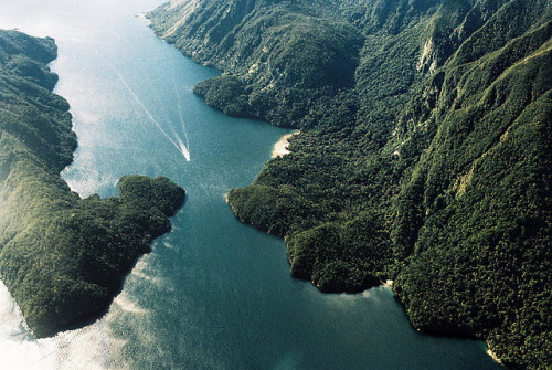 Doubtful Sound From Above 6 by modern kōgaku on Flickr.