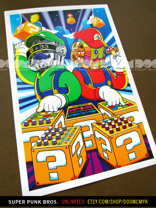 doomsdaily:  Super Punk Bros. Unlimited Edition fan art posters. Available at: http://www.etsy.com/shop/DoomCMYK