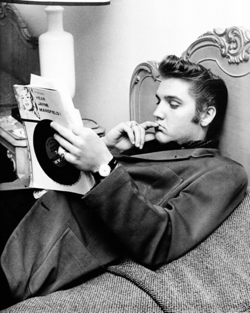 Elvis at the Knickerbocker Hotel, 1956 by photographer Ed Braslaff