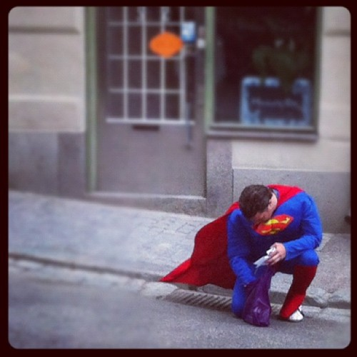 Superman lives in Stockholm! (Taken with instagram)