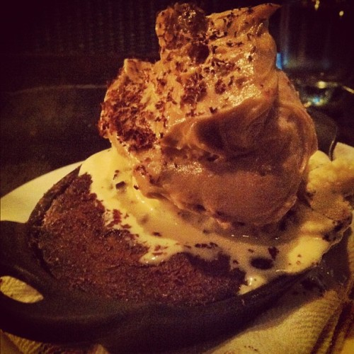 Chocolate chip cookie skillet with cookie dough ice cream and peanut butter mousse at Tavern - Oh. My. God. (Taken with Instagram at The Tavern Kitchen & Bar)