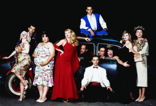 The cast of Cry-Baby with director John Waters (1990)