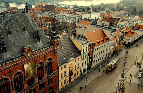 cityparkdog:  Torun, old town, view from tower by Agnieszka Kedzierska on Flickr.