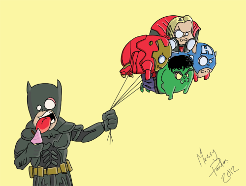Bat's Balloons by MessyPandas