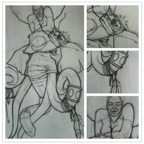 "The original sketch of the 2nd ""elephant head"". (Taken with instagram)"