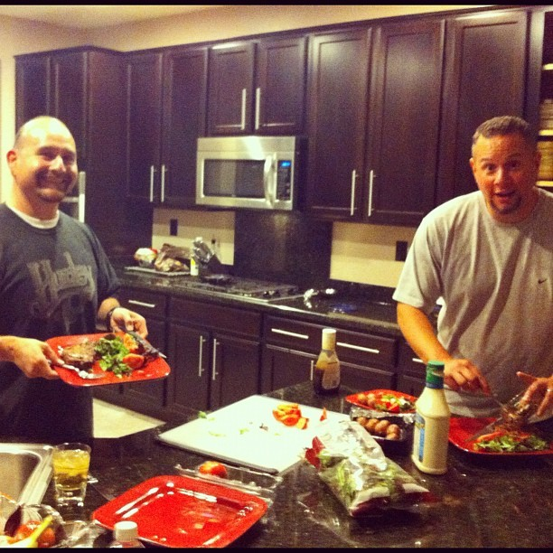 JAYFORD & CP! Getting ready to #Throwdown (Taken with Instagram at KB Home At Inspirada)