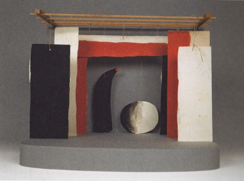 "joan miro maquette for stage set for the Ballet ""Jeax d'enfants"""