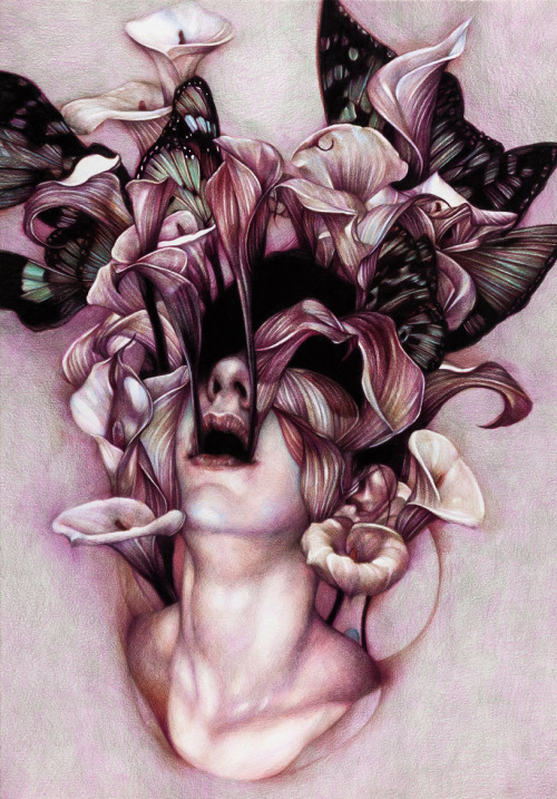 "marcomazzoni:  ""Euphoria"" 2012, colored pencils on paper, cm 65x45"