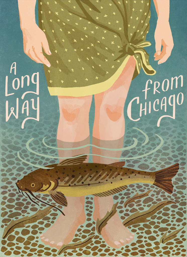 A Long Way from Chicago- book cover illustration