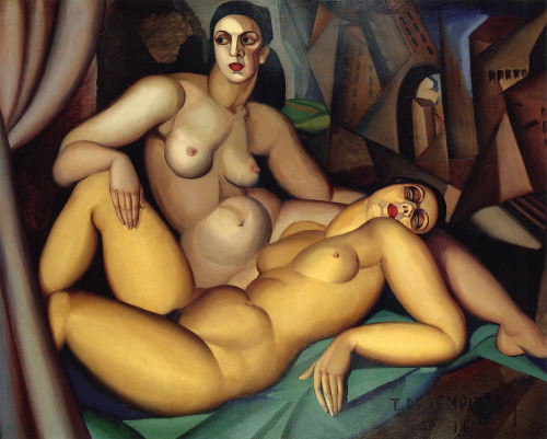 artaddictsanonymous:  Tamara de Lempicka, The Two Friends, 1923
