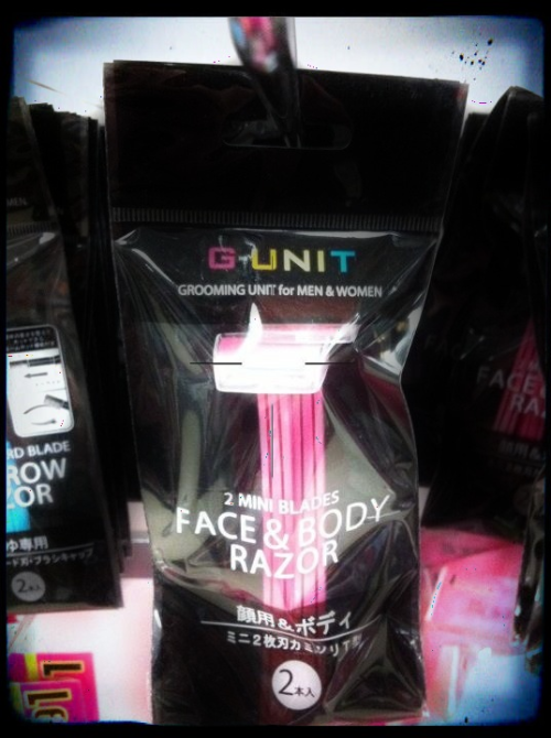 g-UnIT!  thanks 50 for making these tiny razors for our enjoyment. japantown, SF