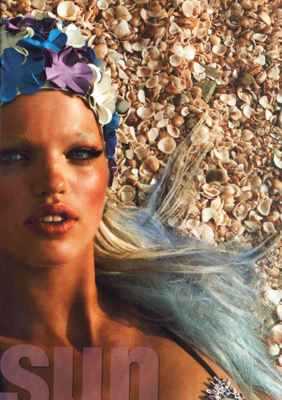 """Glam Sun"", Daphne Groeneveld photographed by Patrick Demarchelier in Vogue Italia Beauty May 2012"