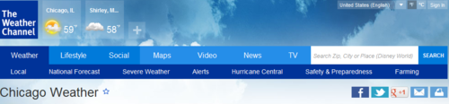 The Weather Channel Banner