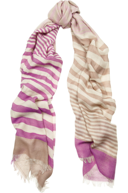 Mulberry Striped cashmere scarf