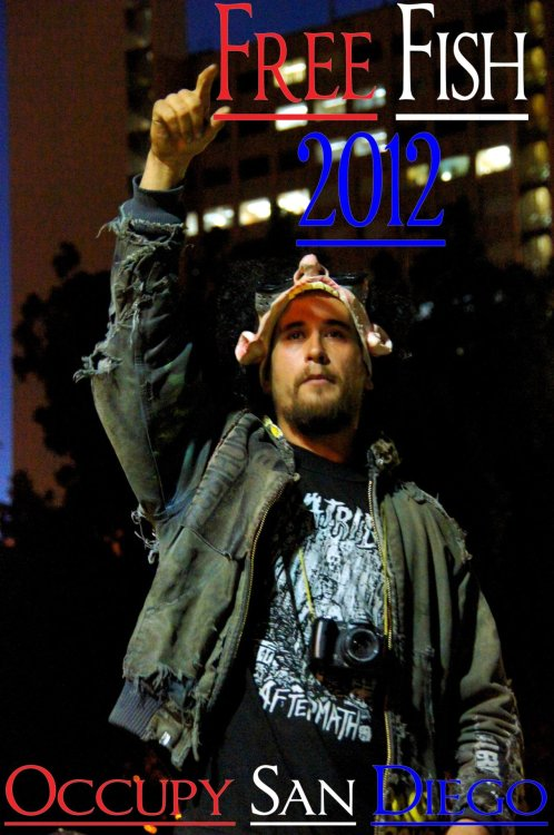 #occupy Justice for Fish! We miss you, buddy! SAN DIEGO TAKES POLITICAL PRISONERS!