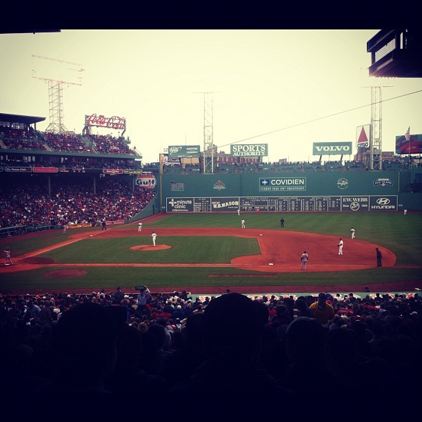 justfourfun:  #Boston vs #Baltimore today then off to NYC for the night. @relapsemagazine & @michaeltessier (Taken with instagram)