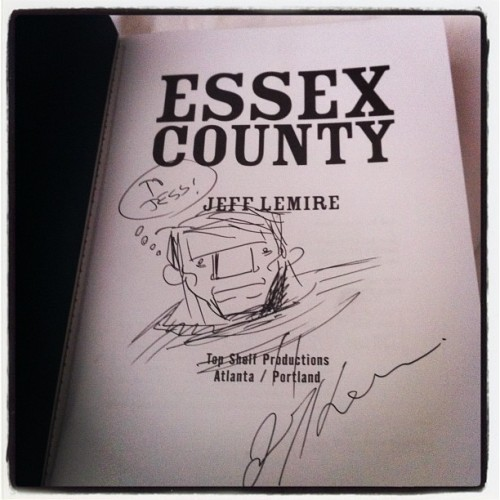 Got my Essex County signed today :) epic Jeff Lemire love (Taken with instagram)