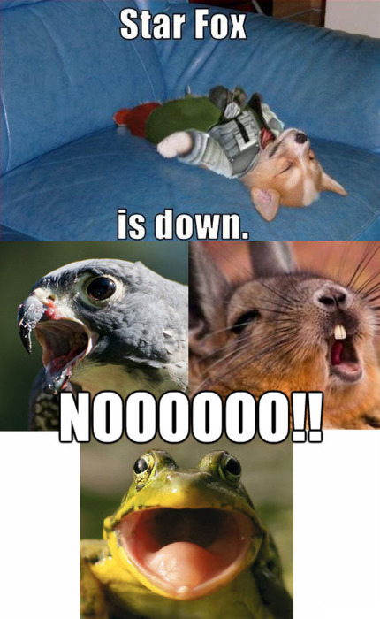 kellyrogersofficial:  Star Fox is down!!