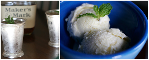 milkmadeicecream:  milkmade flavor of the day: Mint Julepmint ice cream with a heft shot of kentucky bourbonHappy Derby Day! We like to celebrate with by sporting a big derby hat and helping ourselves to a refreshing Mint Julep. In ice cream form, of course. Here was our flavor of the month last year.