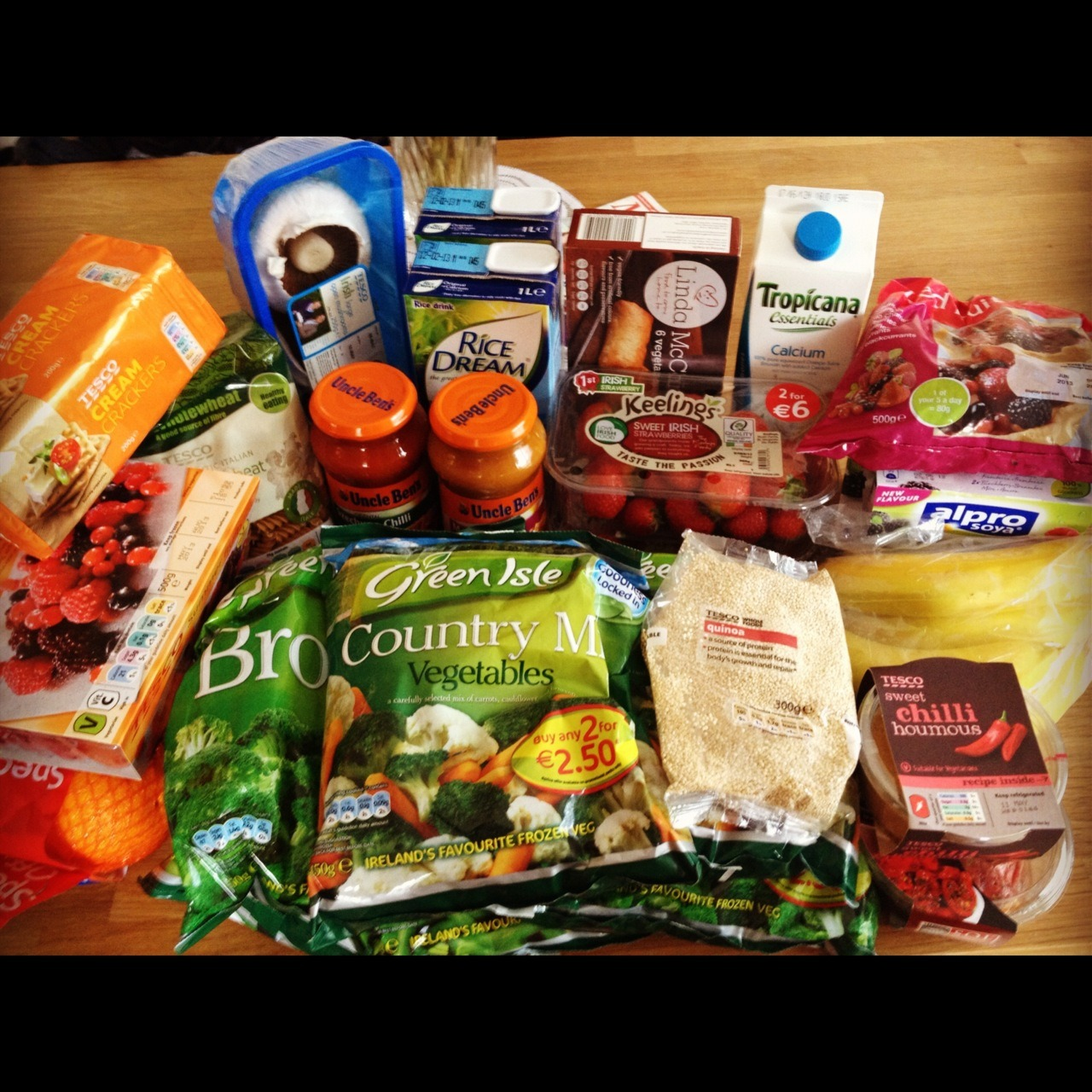 Goes to Tesco…buys ALL the food.