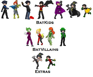 deliciouspi:  Batman sprite edits, sans Batman. Please ignore that they're jpeg, I fucking hate having to use my iPod for this…
