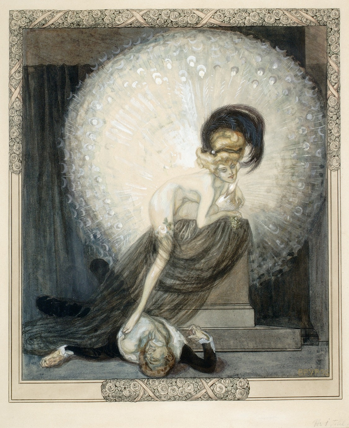 Marquis von Bayros, The White Peacock (1910)