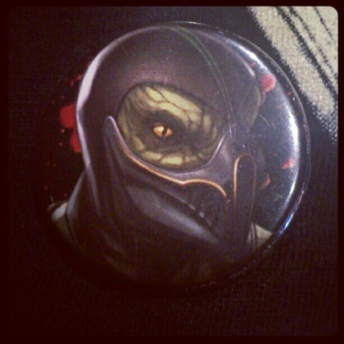 Reptile pin! #MK #MortalKombat #Reptile (Taken with instagram)