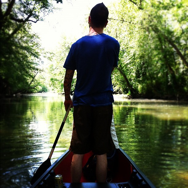 Gondola captain. #canoe # river #outdoors  (Taken with instagram)